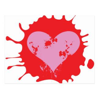 Splat Heart Postcard