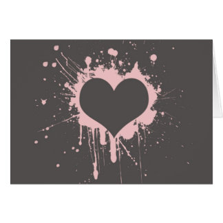 Splat My Heart Card