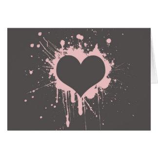 Splat My Heart Greeting Card