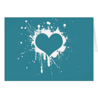 Splat My Heart Note Card