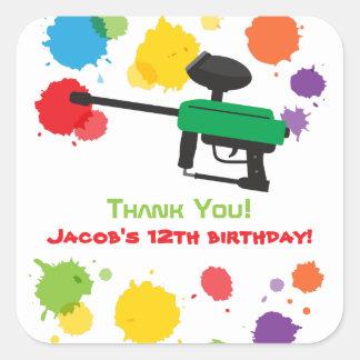 Splat Paintball Kids Birthday Party Stickers