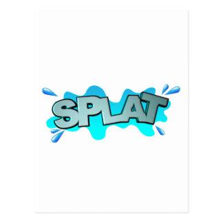 Splat Postcard