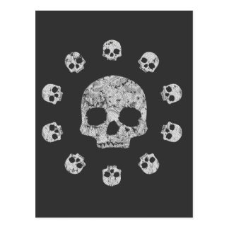 Splat Skull Postcard
