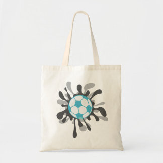 Splat soccer ball design tote bag