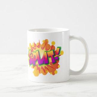 Splat Superhero Comic Action Words Basic White Mug