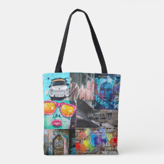 Splatted Paint Street Art Graffiti Tote Bag