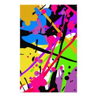Splatter art graffitti to power customised stationery