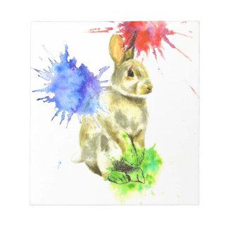 Splatter bunny notepad