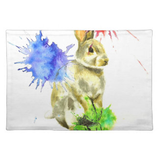 Splatter bunny placemat