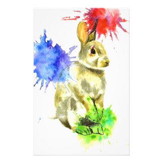 Splatter bunny stationery