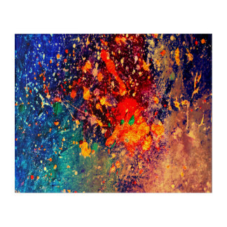 Splatter | Colorful Rainbow Abstract Psychedelic Acrylic Wall Art