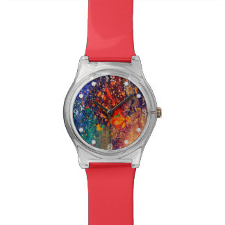 Splatter | Colorful Rainbow Abstract Psychedelic Watch