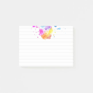 Splatter Colors Butterfly - Sticky Notes