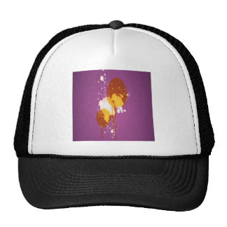 Splatter design mesh hats