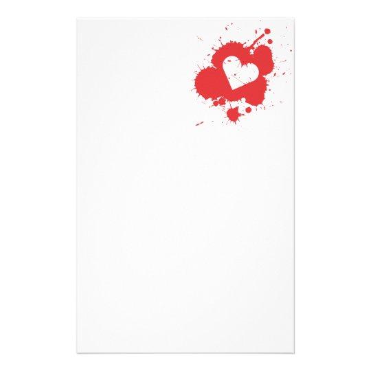 Splatter Heart Stationery 2