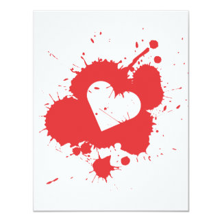 Splatter Heart (Wedding) Invitation Template 2