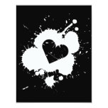 Splatter Heart (Wedding) Invitation Template 3