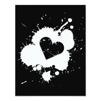 Splatter Heart (Wedding) Invitation Template 3