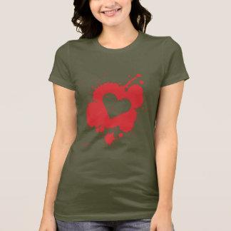 Splatter Heart Women's Dark T-shirt 2