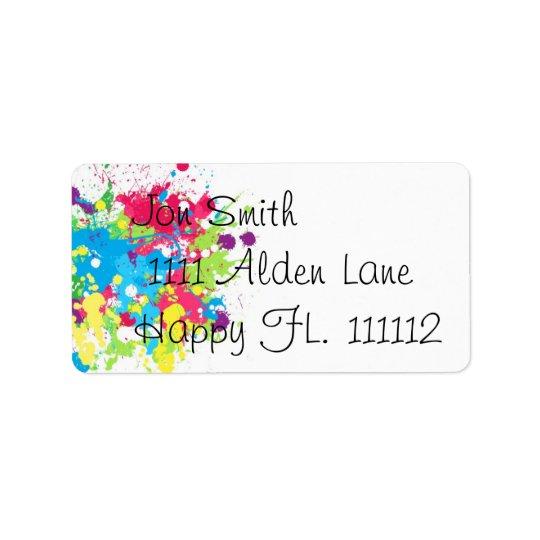 Splatter Paint Address Label