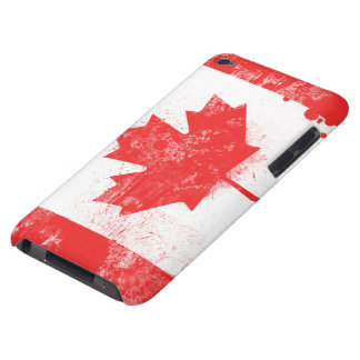 Splatter Painted Flag of Canada iPod Touch Case