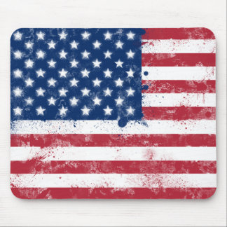 Splatter Painted Flag of the USA Mousepad