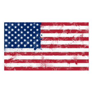 Splatter Painted Flag of the USA Pack Of Standard Business Cards