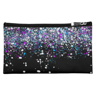 Splatter Pattern - Dark with Blue and Pink Cosmetic Bag