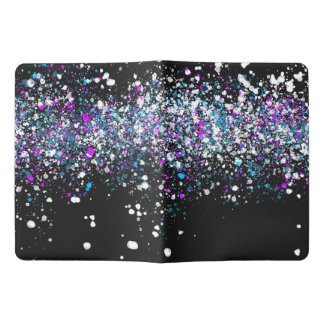 Splatter Pattern - Dark with Blue and Pink Extra Large Moleskine Notebook