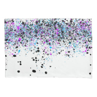 Splatter Pattern - Light with Blue and Pink Pillowcase