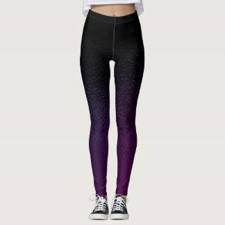 Splatter purple/blue leggings