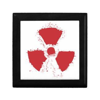 Splatter Radioactive Warning Symbol Gift Box