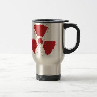 Splatter Radioactive Warning Symbol Travel Mug