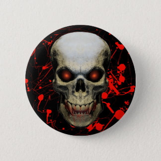 Splatter Skull Badge / Button