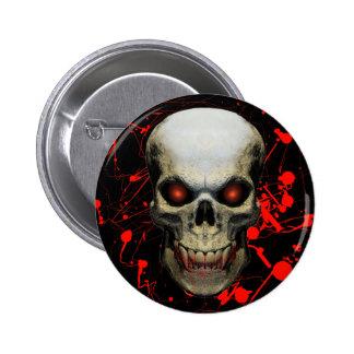 Splatter Skull Badge Button