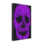 Splatter Skull (violet) Gespannter Galerie Druck