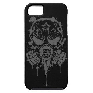 Splatter Sugar Skull with Gas Mask, Dark iPhone 5 Cover