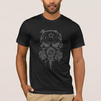Splatter Sugar Skull with Gas Mask (dark) T-Shirt
