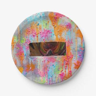 Splatter Surprise 7 Inch Paper Plate