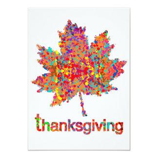 Splatter Thanksgiving Leaf Art 13 Cm X 18 Cm Invitation Card