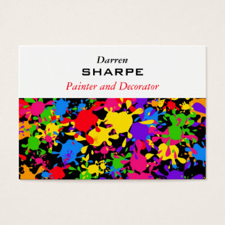 Splatter Wallpaper Business Card