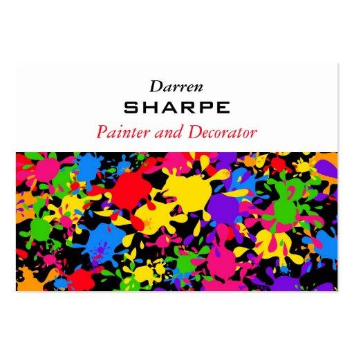 Splatter Wallpaper Business Card Template