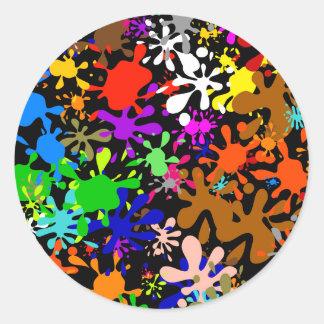 Splatter Wallpaper Classic Round Sticker
