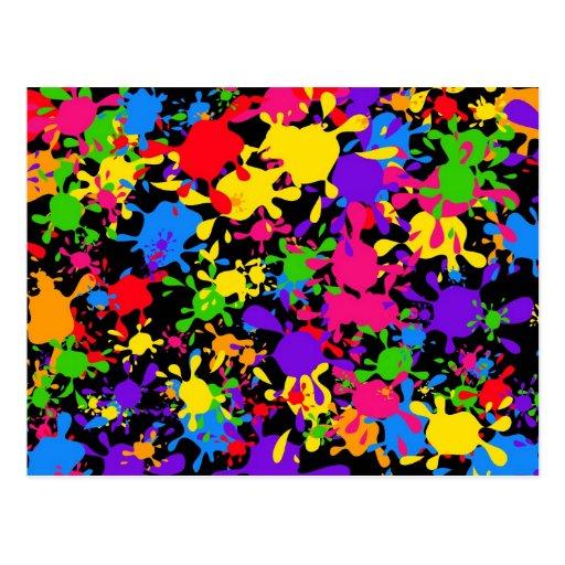 Splatter Wallpaper Post Cards