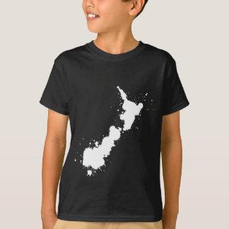 Splatter White NZ T-Shirt