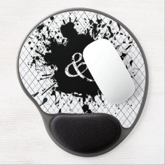 Splattered Black Paint ampersand (&) Gel Mousepad