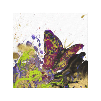 "Splattered Butterfly Canvas Print (12"" x 12"")"