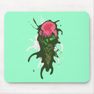 Splattered Ice Cream - Abstract Mouse Pad