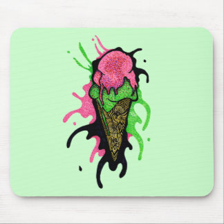 Splattered Ice Cream Mouse Pad