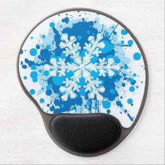 Splattered Paint Christmas Snowflake Design Gel Mouse Pads
